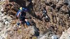 Careful on rocky ridge