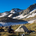 Camping by the tarns near Mt Wakefield summit