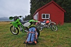 Trail bikes at Red Hut