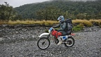 Riding trail motorbike