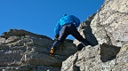 Climbing with crampons on Castle Rock