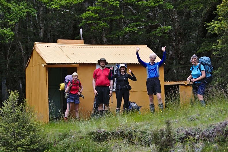 Arrival at Spence Hut