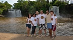 Group photo by Twin Waterfalls (Cachoeiras do Itapecuru)