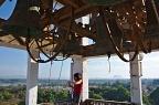 Photographer on church spire