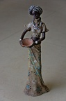 Statuette of African woman standing
