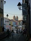 Colourful streets of Pelourinho, the historic centre of Salvador