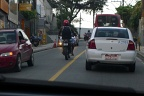 Motorbikes in traffic