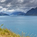 Dramatic clouds over Lake Hawea