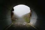 Tunnel on a misty day