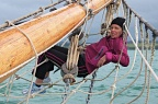 Comfy on the bowsprit