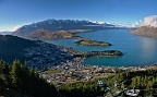 Panorama of Queenstown, Lake Wakatipu, and The Remarkables