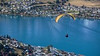 Paraglider and Frankton Arm of Lake Wakatipu