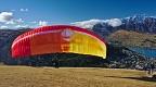 Preparing tandem paraglider