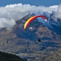Tandem paraglider, Frankton, and Remarkables ski field access ro