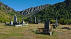 Arrowtown Cemetery and mountains