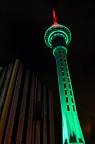 Sky Tower at night