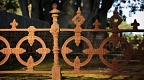 Detail of old grave fence