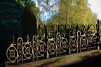 Grave with iron fence
