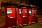 Red phone boxes