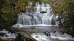 Purakaunui Falls - overall view, Catlins, Otago, New Zealand