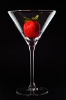 Strawberry in a Martini glass