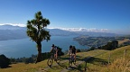 Two young mountain bikers on Otago Peninsula