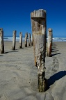 Detail of St Clair beach poles
