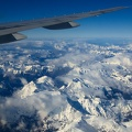 Aerial view of Southern Alps