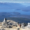 Granite rock formations on Mount Titiroa, Lake Manapouri, and La