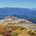 Tussock and granite sand of Mount Titiroa, Lakes Manapouri and T