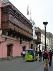 Spanish style balconies in Lima
