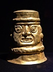 Gold mask in Larco Museum