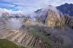 Machu Picchu in morning mist