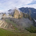 Panorama of Machu Picchu and surrounding peaks and valleys