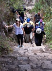 Climbing up track to Huayna Picchu