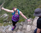 Steep stairs of Huayna Picchu ruins