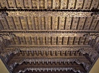 Elaborate wooden carved ceiling at Museum of the Inquisition