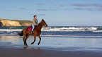 Horse rider on Waikouaiti Beach