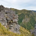 Rock formation on Rocky Ridge and top part of Devils Staircase