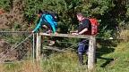 Climbing over farm fences