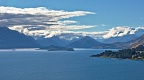 Lake Wakatipu with Pigeon and Pig Islands and Mount Alfred from