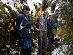 Tramping party on Green Ridge with wet snow all around