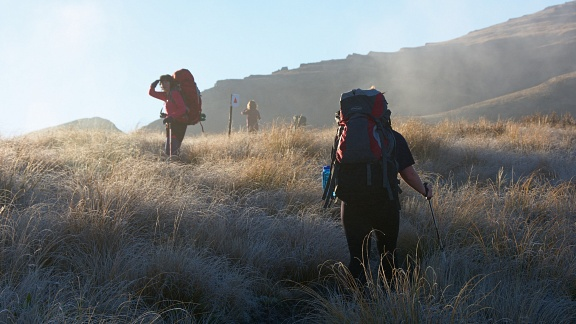 Tramping in fog and golden sunshine