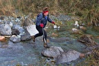 Jumping over Morgan Stream