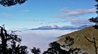 Mount Titiroa above sea of clouds
