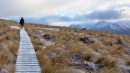 Boardwalk with light sprinkle of snow