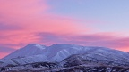 Snowy Saint Bathans Range and morning pink clouds