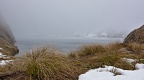 Lake Harris in grey cloud and tussock