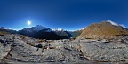 Panorama at tarns above Routeburn Falls