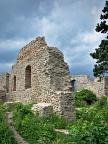 Wall ruins at Starý Jičín Castle ruins